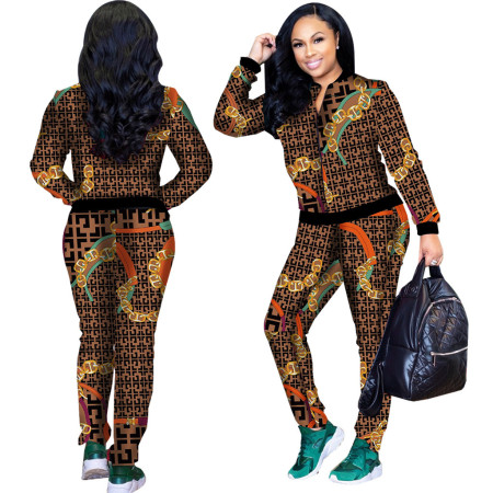 Digital Printing Two Pieces Tracksuits  SMR3001