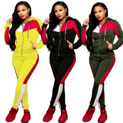 Hooded Coat Pencil Pants Running Suits For Ladies SN3491