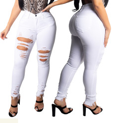 Wholesale White Autumn Bodycon Pants SMR2004