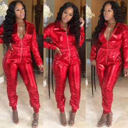 Euramerican Tight Red Women Jumpsuits For Club MTY6115