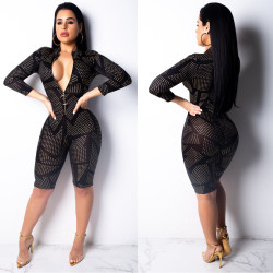 Wholesale Newest Tight Women Jumpsuit With Zipper ML7161