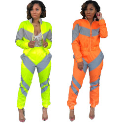 New Arrivales Bright Color Block Sports Outfits MDO9003