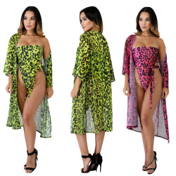Sexy Print Strapless Swimwuits+Beach Cover Ups CM537