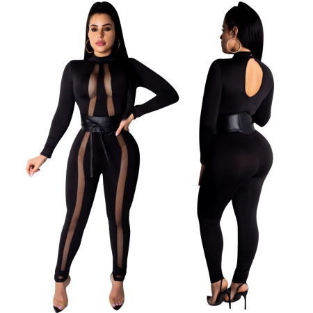 Hot Sale Mesh Sexy Bodycon Jumpsuits ED8070