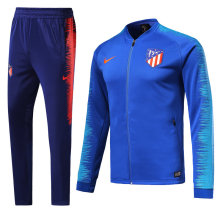 18/19 Atletico Madrid Blue and Black Jacket Tracksuit