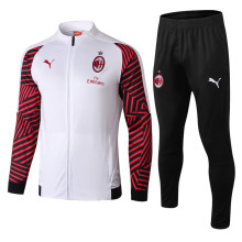 18/19 AC Milan White and Red Jacket Tracksuit