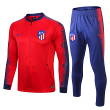 18/19 Atletico Madrid Red and Blue Jacket Tracksuit