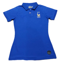 2019 Frence Blue 100th Anniversary Women Soccer Jersey