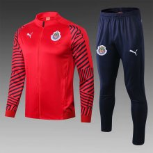 Guadalajara Red Jacket Tracksuit Full Sets 2019