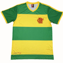 2004 Flamengo Green And Yellow Retro Soccer Jersey