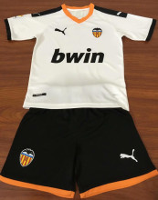 Valencia Home White Kids Soccer Jerseys