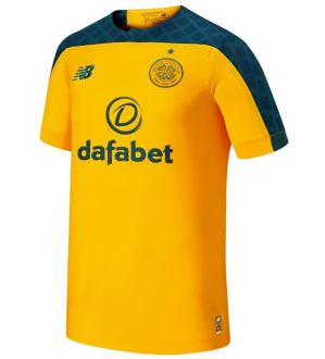 19/20 Celtic Away Yellow Fans Soccer Jersey