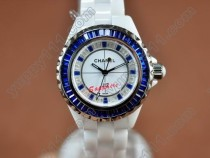 シャネルChanel J12 Joaillerie Ladies White/Blue/Blue Jap Quartzクオーツ