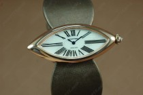 カルティエCartier Jewellery Ladies RG Case White Dial Brown Strap Baignoire Eyeクオーツ