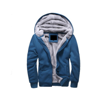Men Hoodie Cotton Blends Male Hooded Coat With Zipper