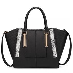 NEW TREND - Large Patchwork Shoulder Bag