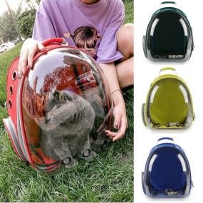 2018 new transparent pet backpack Transparent Breathable Puppy Cat Bag Top Quality Fashion Dog Outdoor Carrier Bag Pet Products