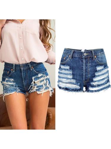 bb7a433500 Shorts For Women | Ripped Denim Shorts For Ladies, High Waist Skorts,  Pockets Denim Short Pants - SELERIT.COM