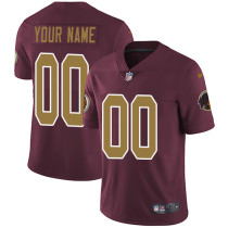 Men's Customized Football Club Team Burgundy Red Alternate Jersey - Limited
