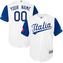 Men's Customized Team Italy 2017 World Baseball Classic Baseball Jersey - Limited