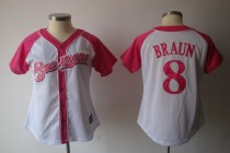 Women's Baseball Club Team Player Jersey - Pink