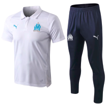 Olympique Marseille 18/19 Training Polo and Pants - White