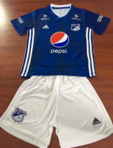 Millionarios Bogota 19/20 Kids Home Soccer Jersey and Short Kit