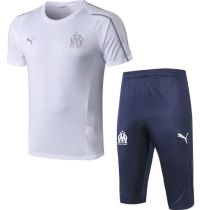 Olympique Marseille 18/19 Training Jersey and Short Kit - White