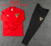 Sao Paulo 19/20 Kids Training Top and Pants - Red