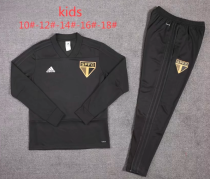 Sao Paulo 19/20 Kids Training Top and Pants - Black