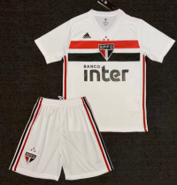Sao Paulo 19/20 Home Soccer Jersey and Short Kit