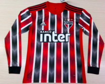 Thai Version Sao Paulo 19/20 LS Away Soccer Jersey