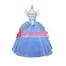 Beautiful Princess Cinderella Dress Dancing Party Dress Movie Cosplay Costume Custom-Made[G657]
