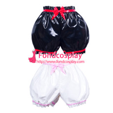 Sissy Maid Pvc Panties Uniform Cosplay Costume Tailor-Made[G3783]