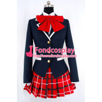Demo Koi Ga Shitai! Shinka Nibutani School Uniform Red Tie Cosplay Costume Tailor-Made[G863]