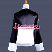 Panda Jacket Black Satin Coat Cosplay Costume Custom-Made[G765]