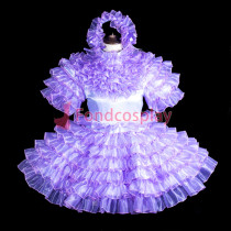 lockable Sissy maid Satin-Organza dress costume Tailor-made[G3845]