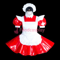 lockable-Sissy maid PVC dress Uniform cosplay costume Tailor-made[G3844]