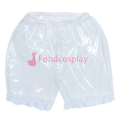 Clear PVC Shorts Underpants lace sissy maid CD/TV Tailor-Made[G3855]