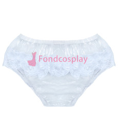 Clear PVC Brief Panties lace sissy maid CD/TV Tailor-Made[G3854]