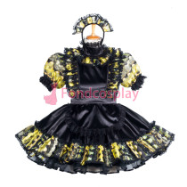Lockable Satin-Organza sissy maid dress Tailor -Made[G3859]