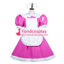 Sissy Maid Pvc Dress Lockable Uniform Cosplay Costume Tailor-Made[G3752]