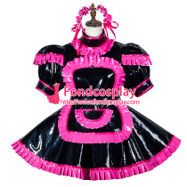 Sissy Maid Pvc Dress Lockable Uniform Cosplay Costume Tailor-Made[G3792]