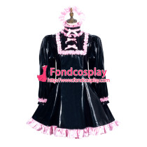 Sissy Maid Pvc Dress Lockable Uniform Cosplay Costume Tailor-Made[G3773]