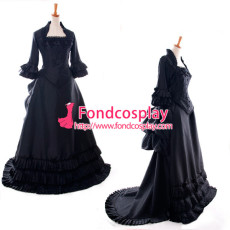 Victorian Rococo Medieval Gown Motion Trail Ball Outfit Gothic Punk Cosplay Costume Custom-Made[G909]