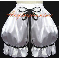 Sexy Sissy Maid Blue Satin Dress Lockable Uniform Cosplay Costume Custom-Made[G588]