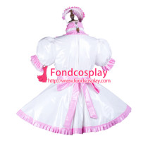 Sissy Maid Pvc Dress Lockable Uniform Cosplay Costume Tailor-Made[G3734]