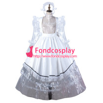 Sissy Maid Clear Pvc Dress Lockable Uniform Cosplay Costume Tailor-Made[G2205]