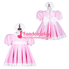 Sissy Maid Pvc Dress Lockable Uniform Cosplay Costume Tailor-Made[G3763]