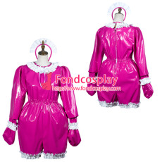 Sissy Maid Pvc Dress Lockable Uniform Cosplay Costume Tailor-Made[G3797]